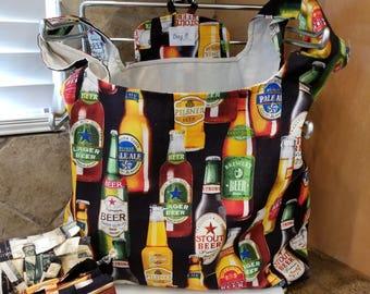 Beer Bottles Grocery Tote