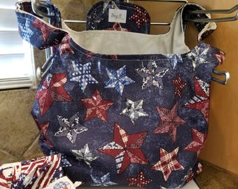 Texas Stars Grocery Tote