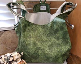 Green Vines Grocery Tote