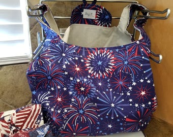 Star Fireworks Grocery Tote