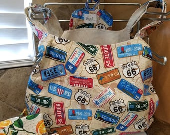 License Plates Grocery Tote