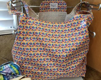 Multi-Faceted Geometric Grocery Tote