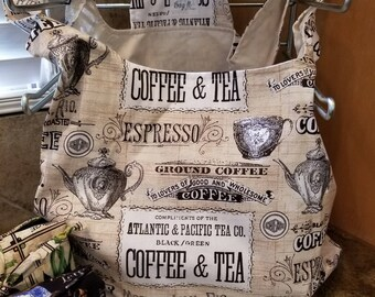Coffee Shop Grocery Tote
