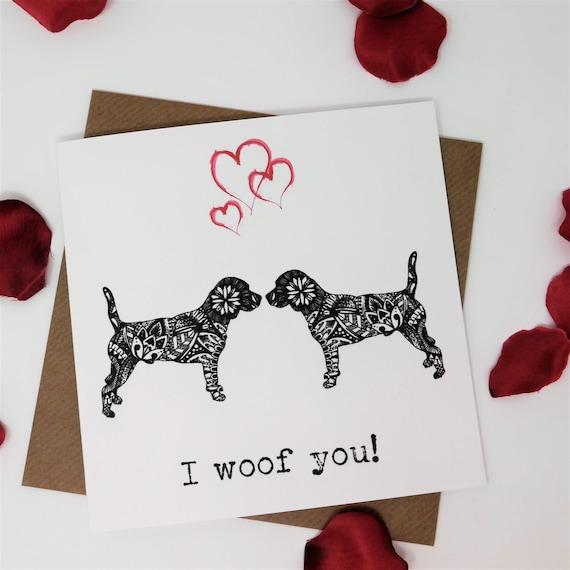 PERSONALISED BLACK GREYHOUND LURCHER DOG VALENTINE ANNIVERSARY BIRTHDAY etc CARD