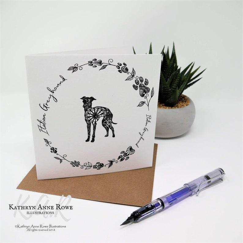 Iggy Lovers Italian Greyhound Gift Iggy Card Italian Greyhounds Gifts For Italian Greyhound Italian Greyhound Card Italian Greyhound