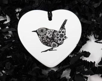 Wren, Wren Art, Bird Gift, Bird Decoration, Bird Art, Wren Gift, Birds, Gift for Bird Lovers, Ornithology, Letterbox Gift, New Home Gift,