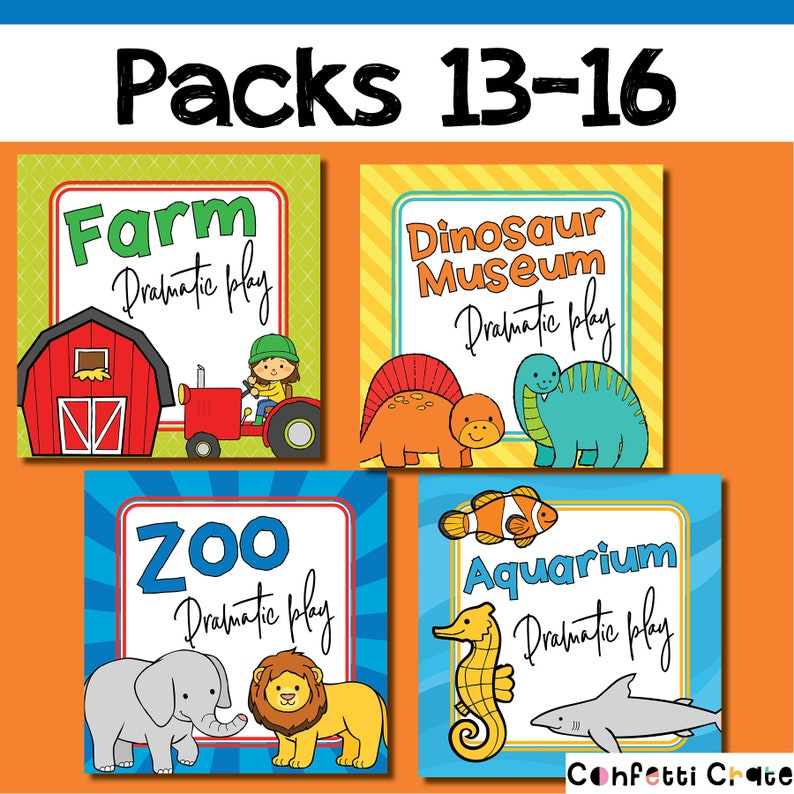 preschool activities Kids Pretend Play Printables
