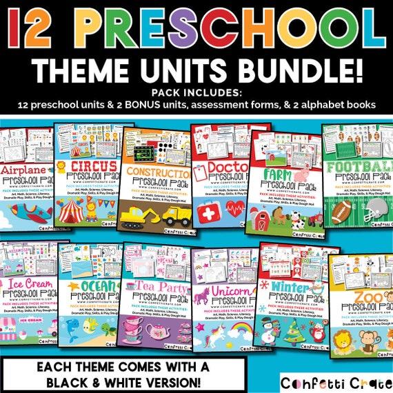 preschool curriculum printable for homeschool preschool comes etsy rh etsy com