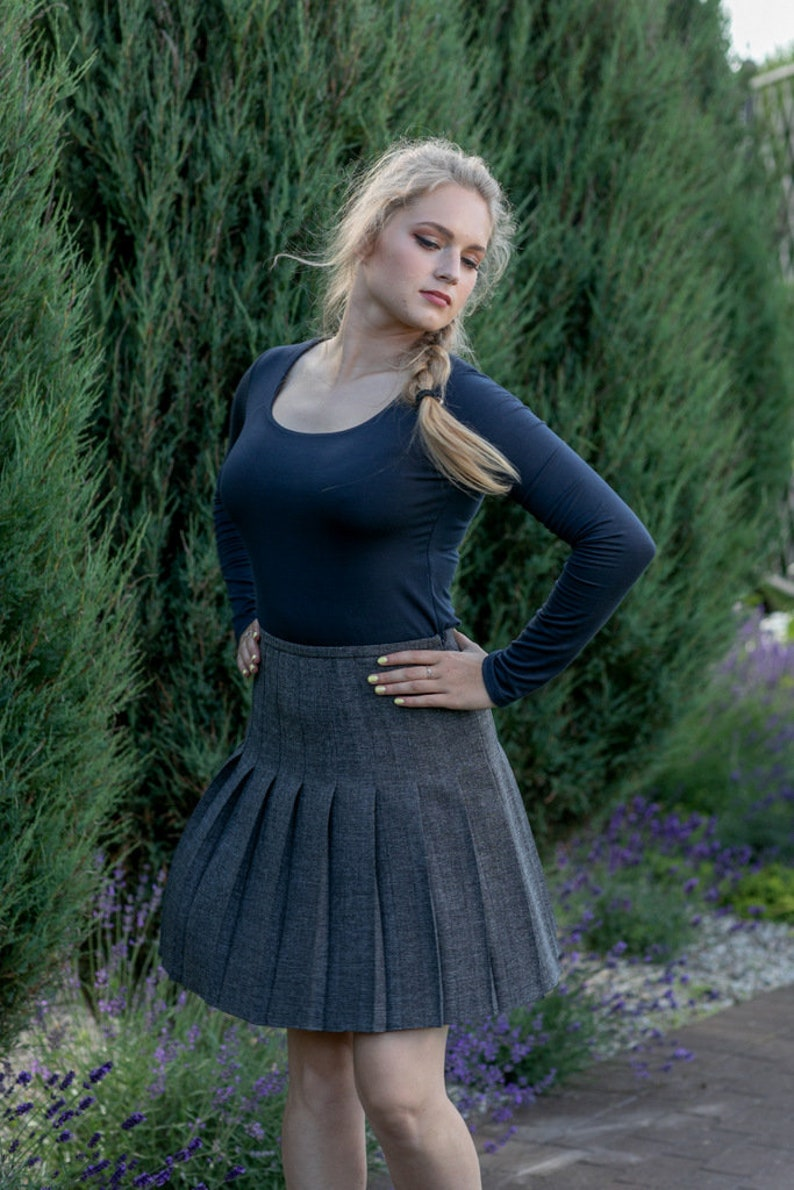 Pleated mini skirt ARIANA