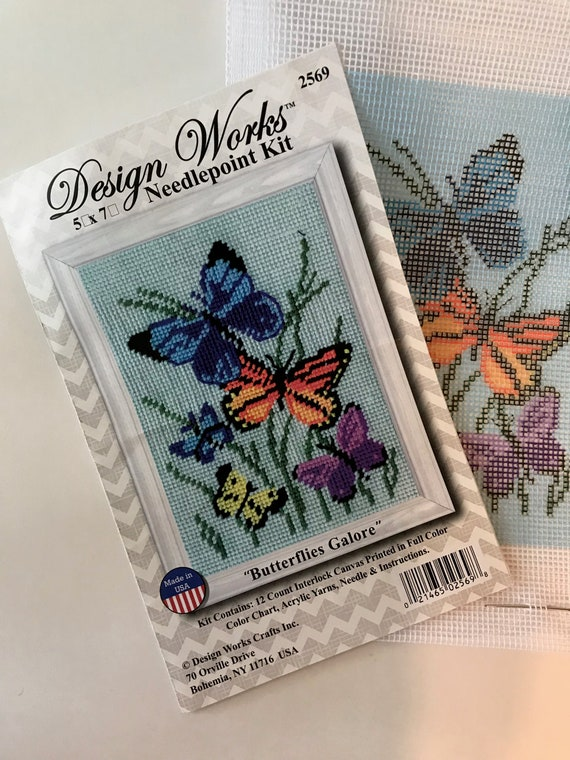 Butterflies Galore Pillow Needlepoint Kit