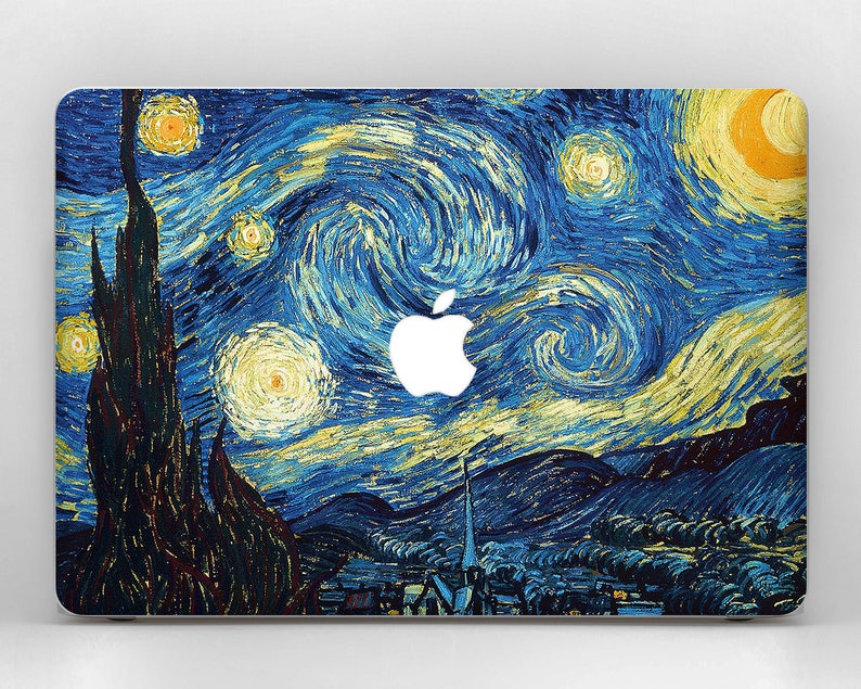 new product 1be40 85636 Starry Night Van Gogh MacBook MacBook Pro Retina MacBook Pro Laptop Cover  MacBook Air 13 MacBook Decal MacBook Air Skin MacBook Case Laptop