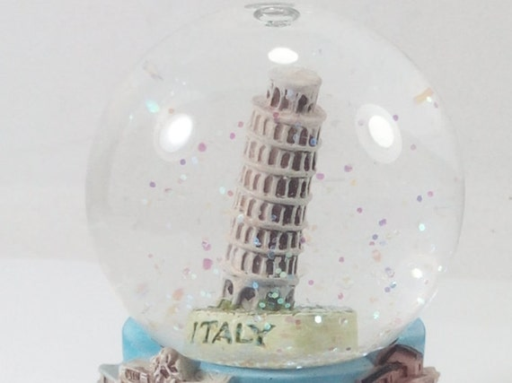 Snow Water Globe Resin Temple Miniature Figurine Souvenir Hand Crafted Gift
