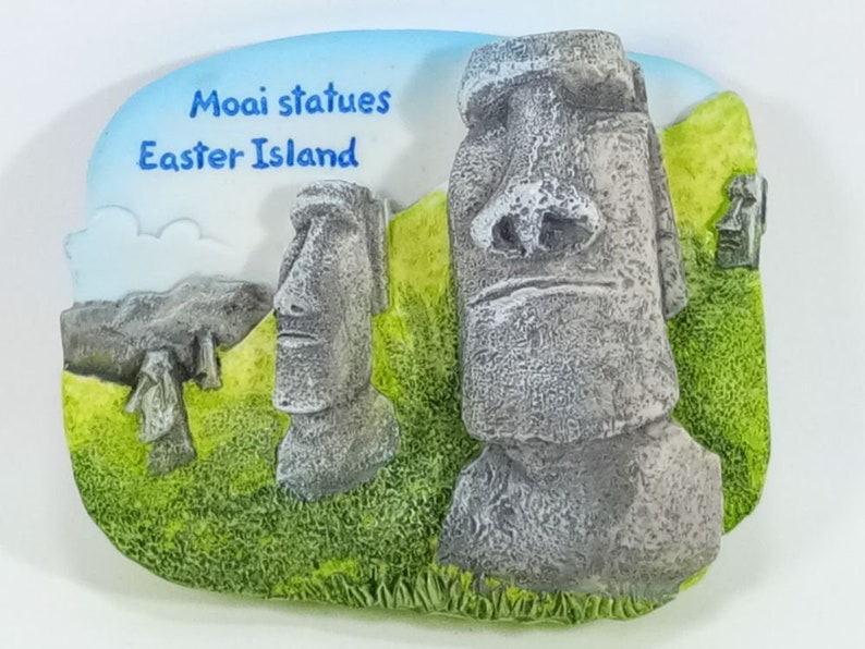 Kühlschrank Uhr Magnetisch : Moai statuen der osterinsel 3d modell kühlschrank magnet etsy