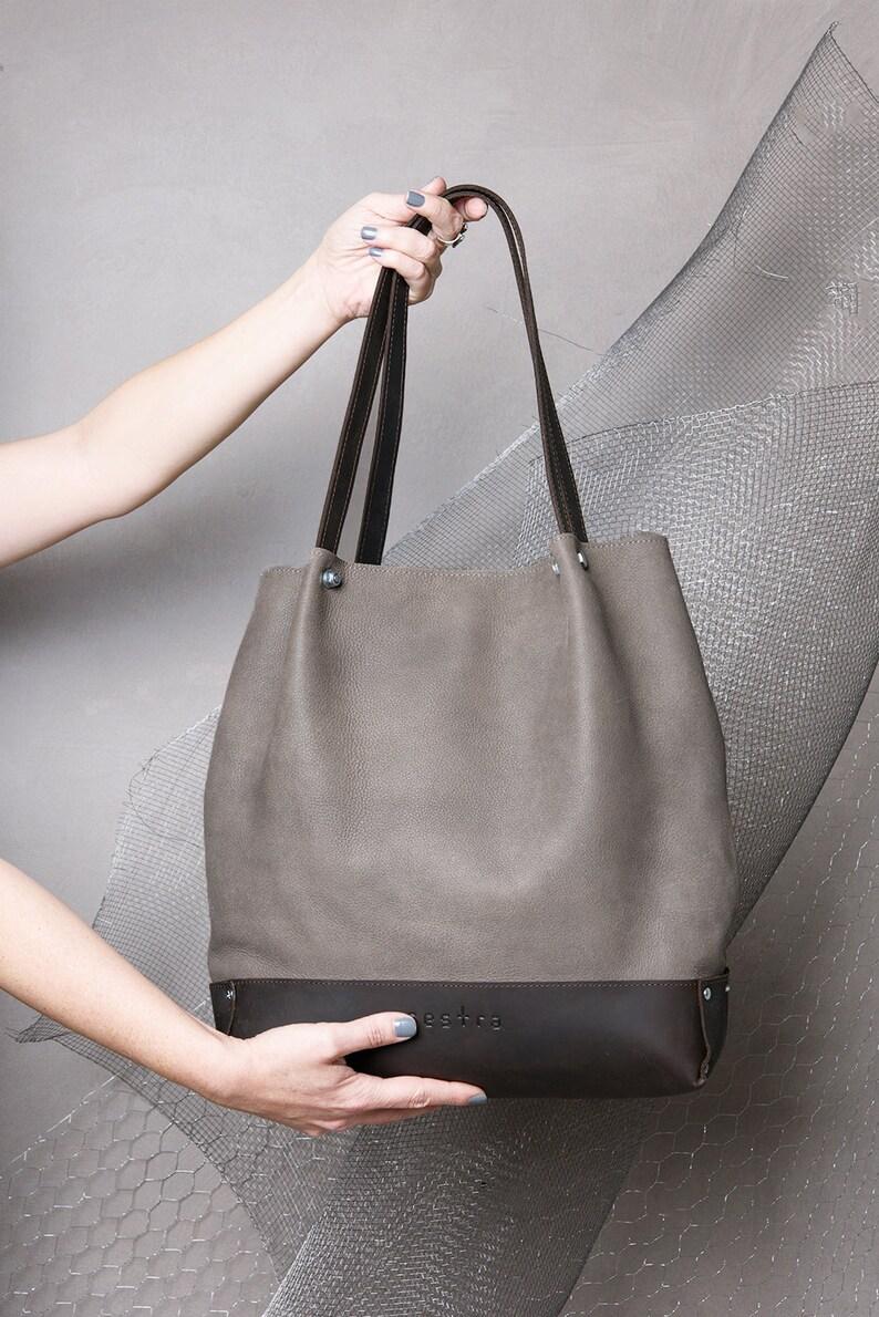 325d6d3898 Shopper en cuir vert vert et brun sac seau sac cuir sac | Etsy