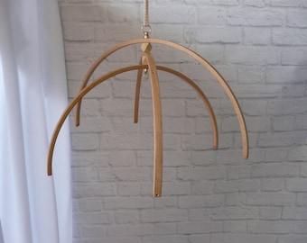 Arcs Wooden mobile, hanger mobile, frame mobile, nursery decor, crib mobile, base for baby mobile, DIY, Kit mobile, wooden mobile baby
