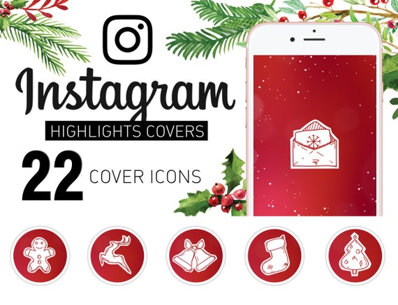Christmas Icon For Instagram Highlights.Items Similar To Instagram Story Highlight Christmas Icon