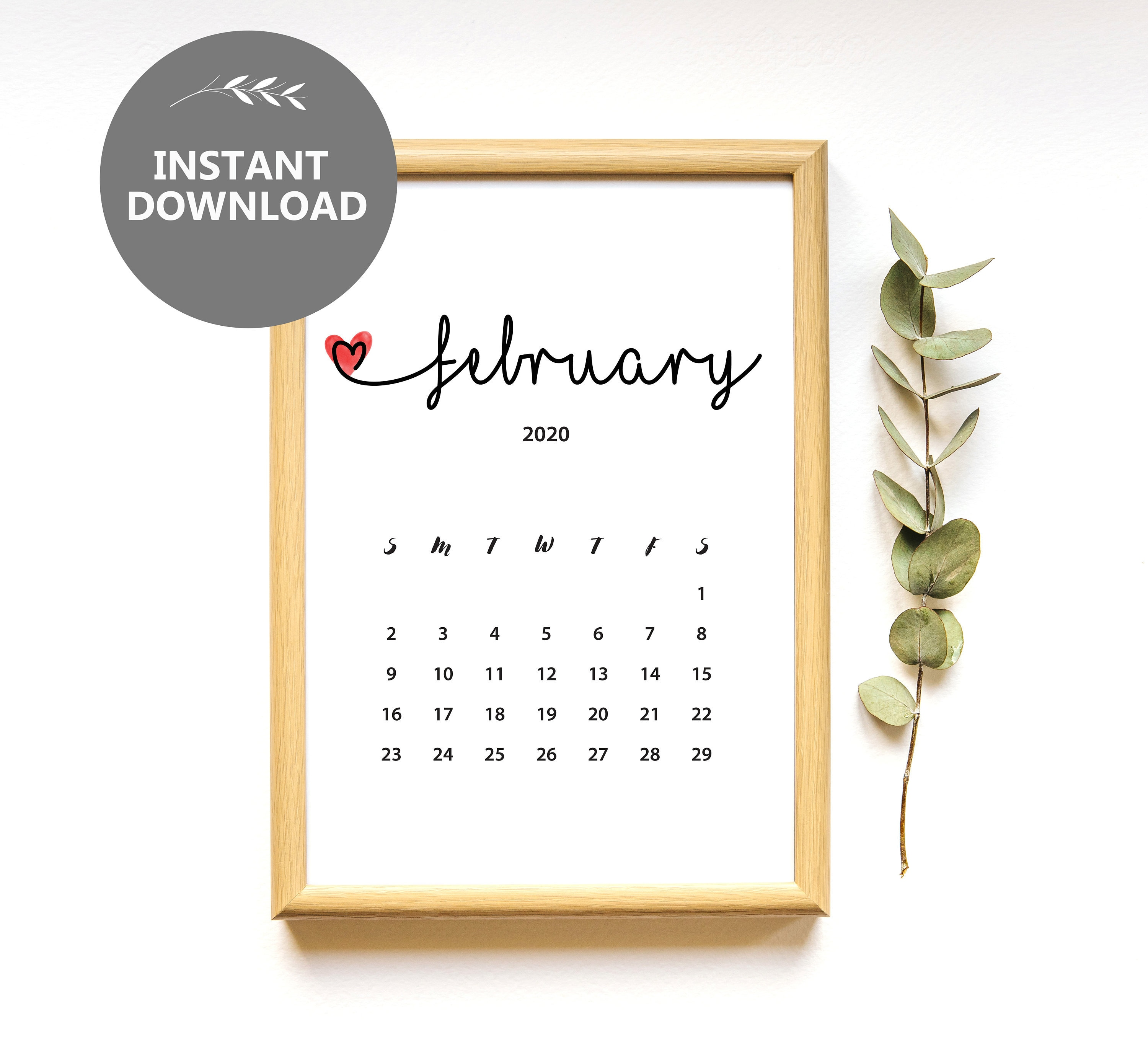 I Never Knew This Did You February 2020 Calendar Link February 2020 Calendar Instant Download Pregnancy | Etsy