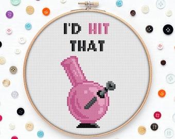 Up In Smoke Cross Stitch Pattern Cheech and Chong Comedy Cross Stitch Funny Movies Cross Stitch Stoner Cross Stitch Dope Cross Stitch 70/'s
