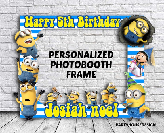 Minion Photo Booth Frame Minion Photobooth Minion Photo | Etsy