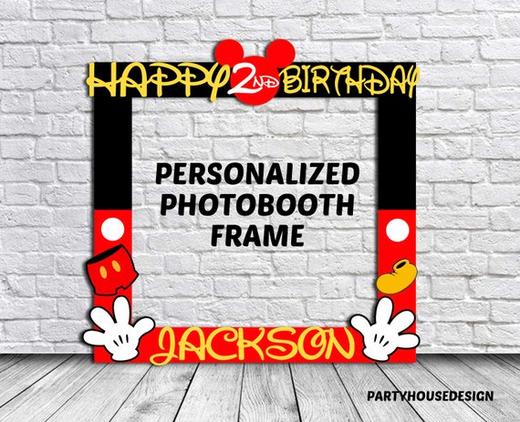 Mickey Mouse Photo Booth Frame Mickey Mouse Photo Frame   Etsy