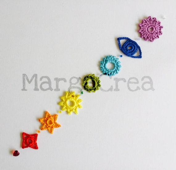 Chakras Crochet Pattern/Patrón de Chakras a Crochet | Etsy