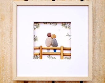 Anniversary present, Always together, Love pebble picture, By your side love present, Couple forever gift, Birthday present, Wedding picture