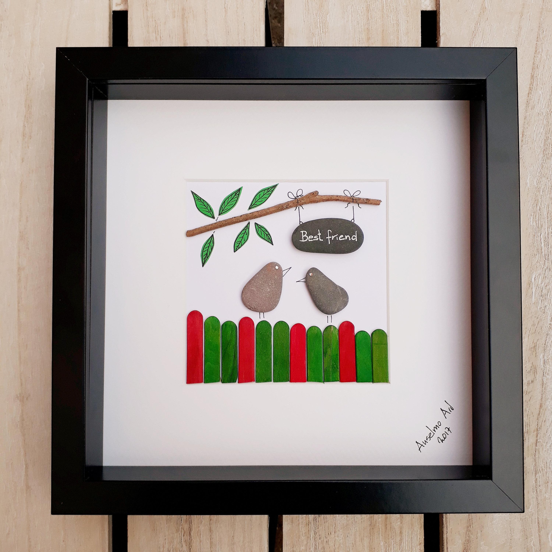 Am besten Freund Pebble Bild Pebble Art Freunde | Etsy