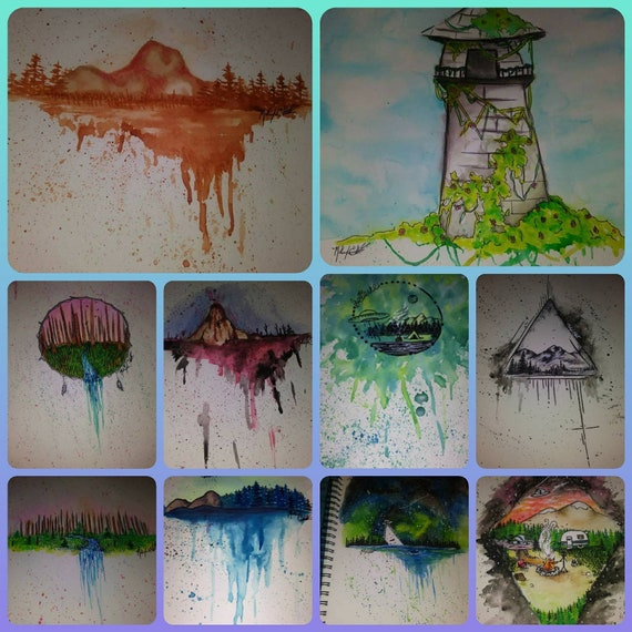 Scenery Paper Paintings