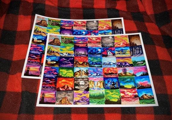 Colorful Scenes Print