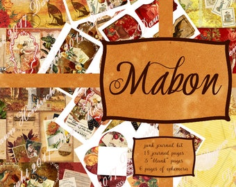 Junk Journal Printable kit: MABON