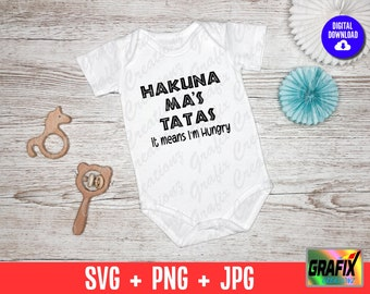 Baby Shower Gifts Boob Baby Clothes Funny Baby Shirts Cute Onesies Baby Clothes A38 Hakuna Ma/'s Ta Ta/'s Funny Baby Onesie