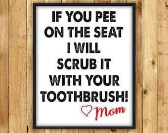 Bathroom Quotes Etsy