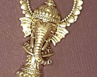 Antiqued Silver Circus Elephant