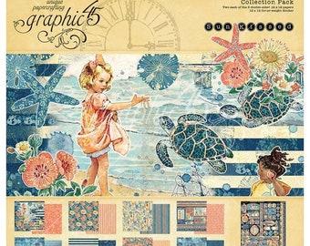 Graphic 45 - 12 x 12 Sun Kissed Premium Cardsock Paper Pack plus Embellishments