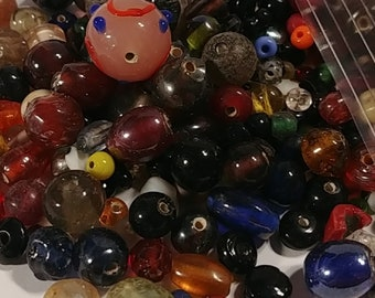 Earth colors Glass Beads