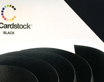 20 - Black 80lb Textured Cardstock 12 x 12 Sheets