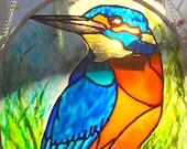 Kingfisher Bird - Stained Glass Birthday Gift Window Suncatcher Rainbow - Nature Wildlife Art Decor Garden Conservatory - Birdwatching
