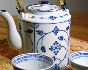 Chinese Porcelain Teapot and Cups