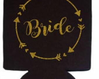 Bride Can Insulator, Bride Beer Cooler, Bachelorette Party Insulator, Bachelorette Party Cooler