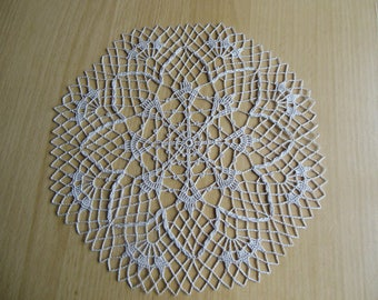 """Colombia"" round crochet doily"