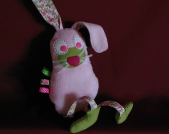 """Doudou labels """"naughty Bunny"""" fleece"""