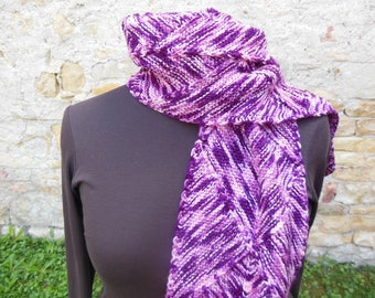Plum rose domino woolen scarf