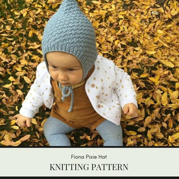 Knit bonnet pattern baby bonnet pattern pixie hat pattern  6db4c139443