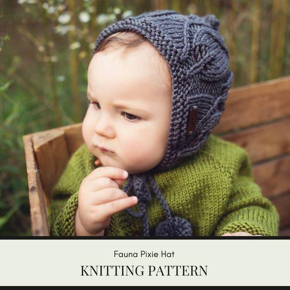 Knit bonnet pattern pixie bonnet pattern pixie hat pixie