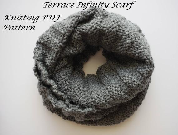 Terrace Infinity Scarf Pattern Tutorial Knitting Pattern Etsy