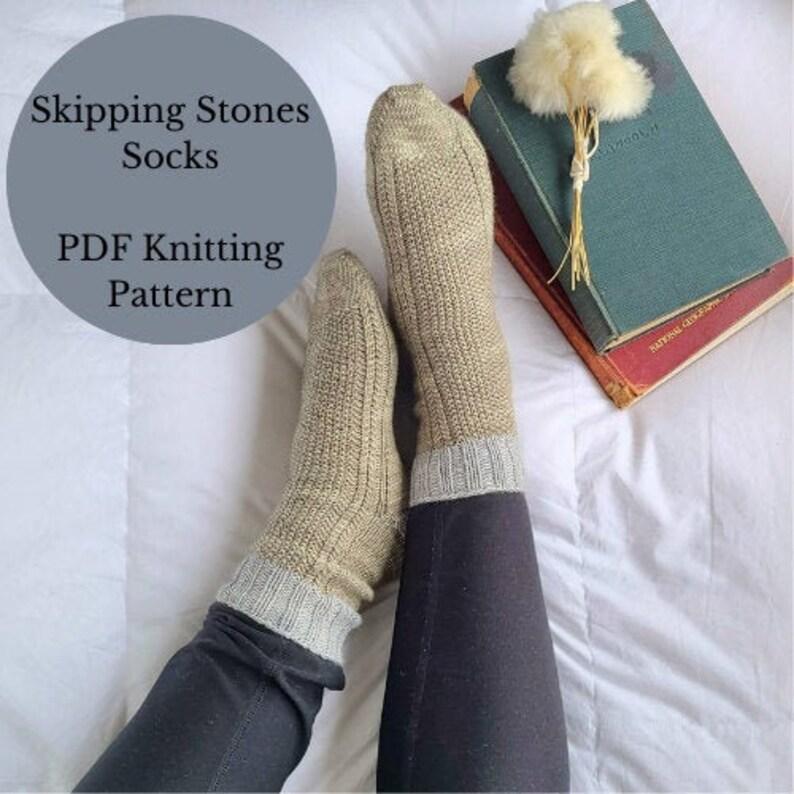 Skipping Stones Socks Pattern Knitting Pattern Knit Socks image 0
