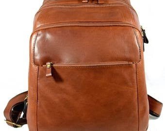Genuine Leather Man Backpack