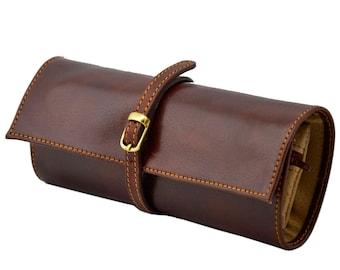 Genuine Leather Travel Jewellery Case