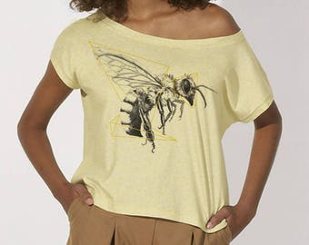 Printed yellow bee T-shirt