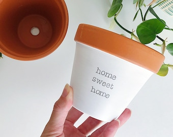 home sweet home planter, indoor planter, small planter, home warming gift, home, first home decor, housewarming gift, move in present